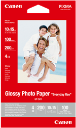 "Originalt glossy fotopapir 10x15  ""Everyday Use"" 200gr - Canon"