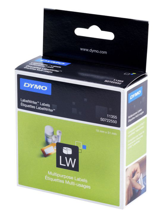 Dymo Multilabels, 19x51 mm.  (11355)