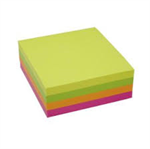 Notes Stick'N NEON Cube 4 ass. neon farver 76x76mm