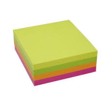 Notes Stick\'N NEON Cube 4 neon farver 76x76mm  320 ark