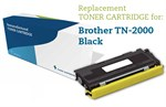 Sort lasertoner TN-2000 - Brother kompatibel