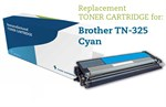 Cyan lasertoner TN-325BK til Brother