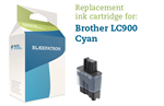 Cyan bl�kpatron - Brother LC900C - 13 ml.