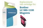 Magenta blækpatron - Brother LC980/1100 - 20ml.