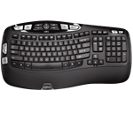 Logitech wireless tastatur K350 Wave